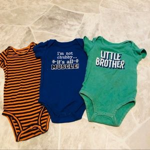 Other - Bundle of three 12 month onesies